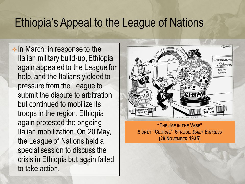 Ethiopia's Appeal to the League of Nations