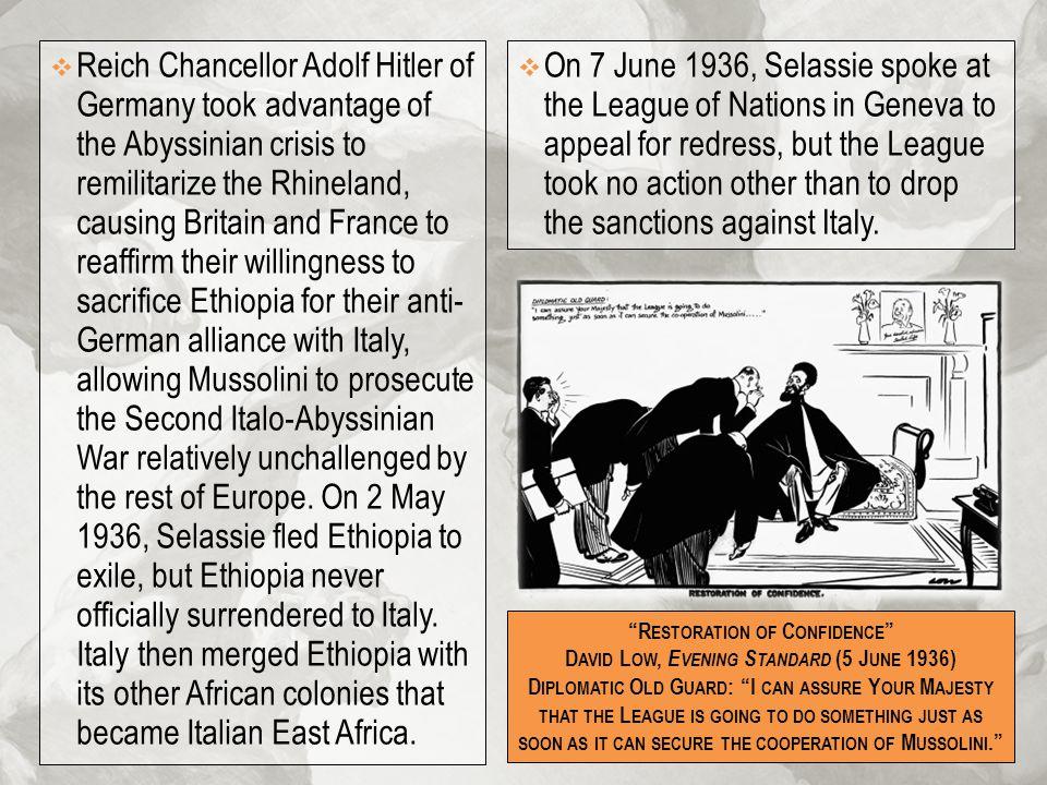 Restoration of Confidence David Low, Evening Standard (5 June 1936)