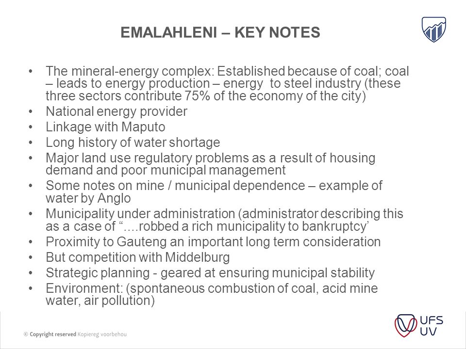Emalahleni – key notes