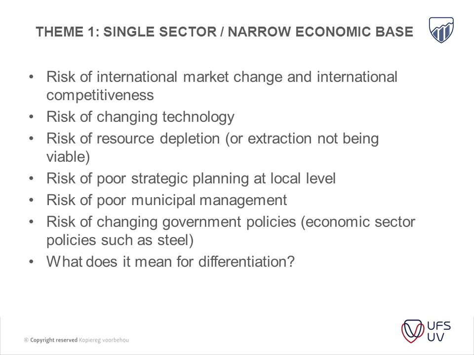 Theme 1: Single sector / narrow economic base