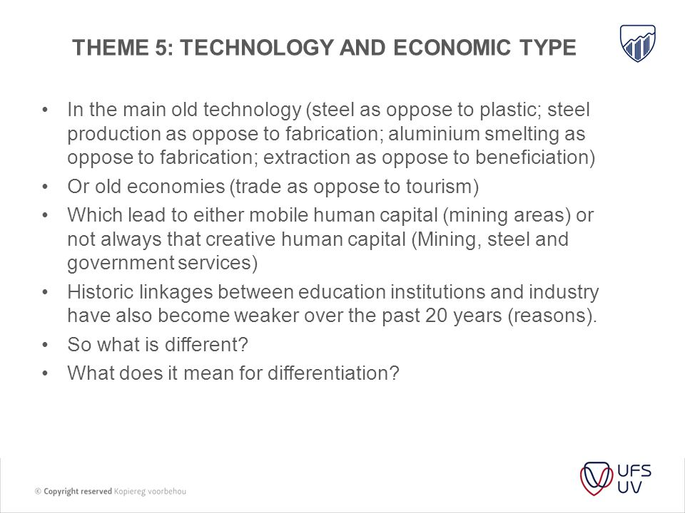 Theme 5: technology and economic type