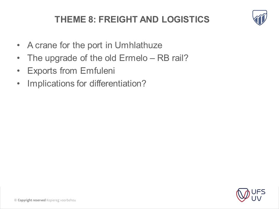 THEME 8: Freight and logistics