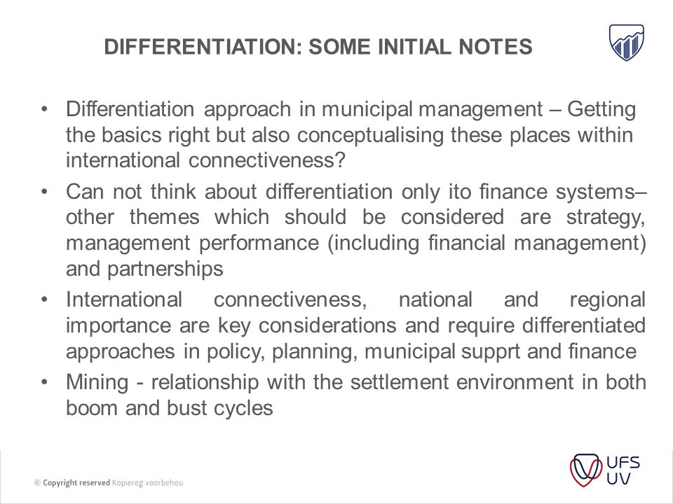 Differentiation: some initial notes