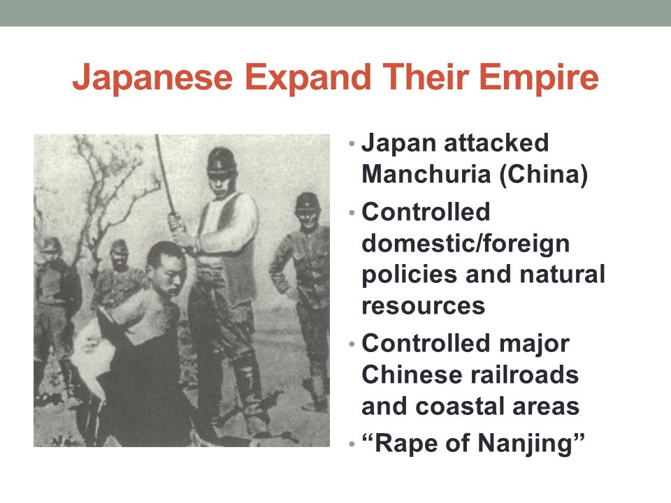 Japanese Expand Their Empire