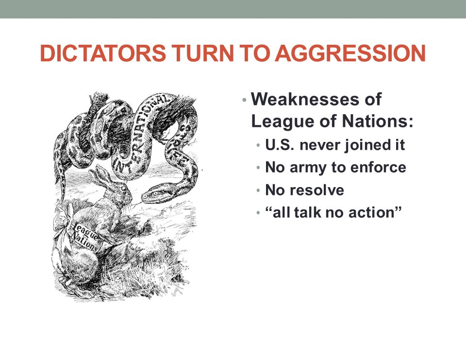 DICTATORS TURN TO AGGRESSION