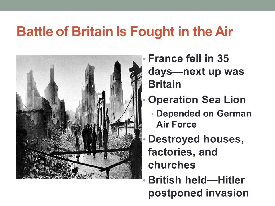 Battle of Britain Is Fought in the Air