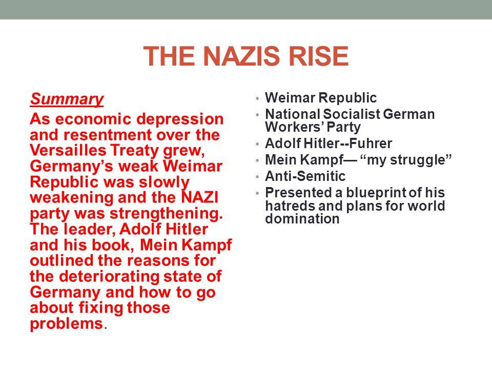 THE NAZIS RISE