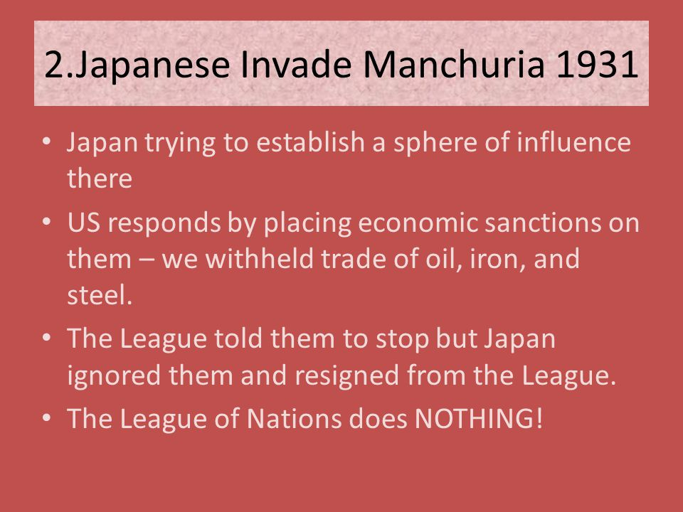2.Japanese Invade Manchuria 1931