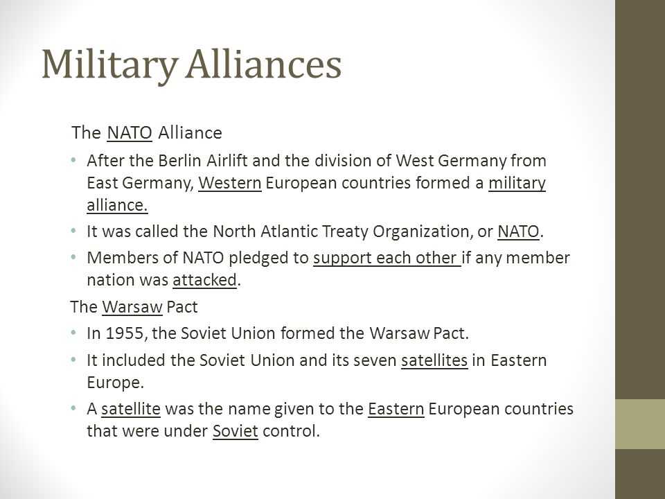Military Alliances The NATO Alliance