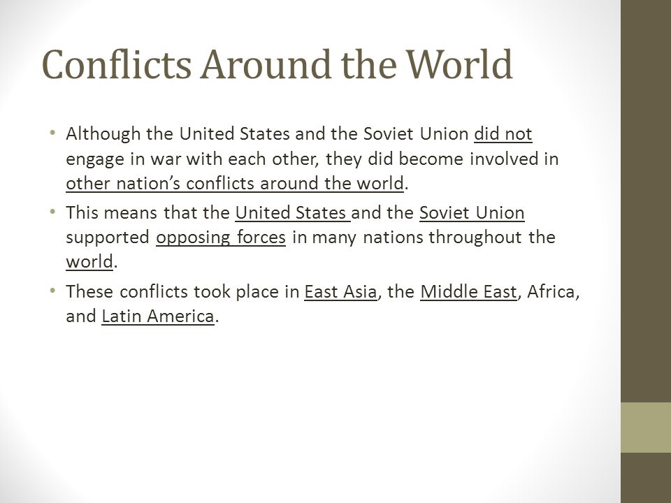 Conflicts Around the World