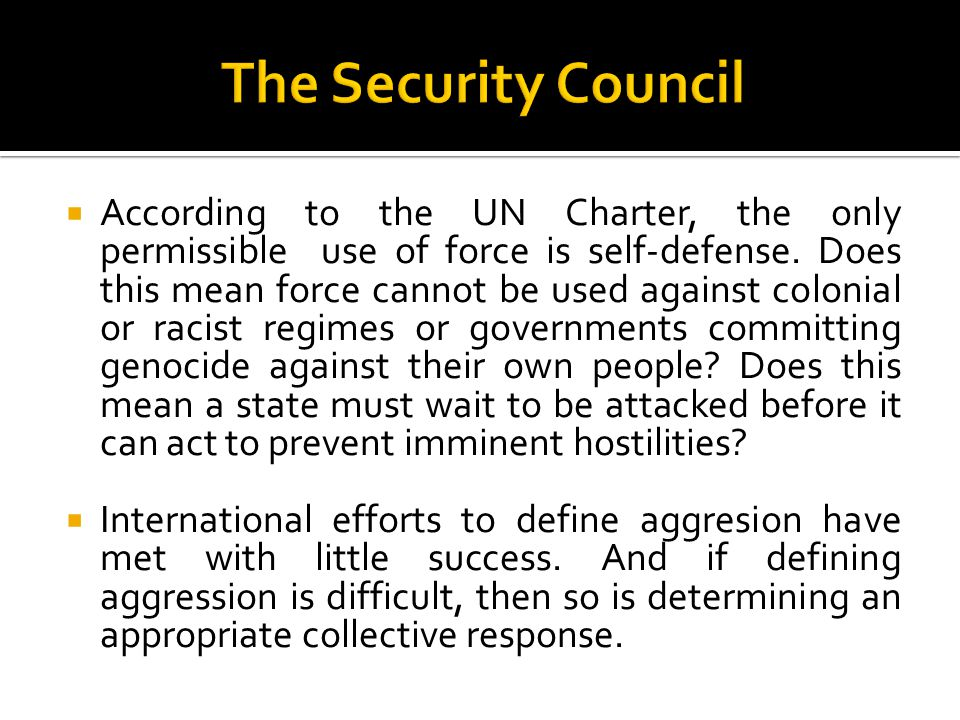 The Security Council