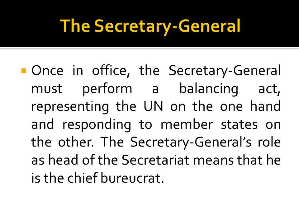 The Secretary-General