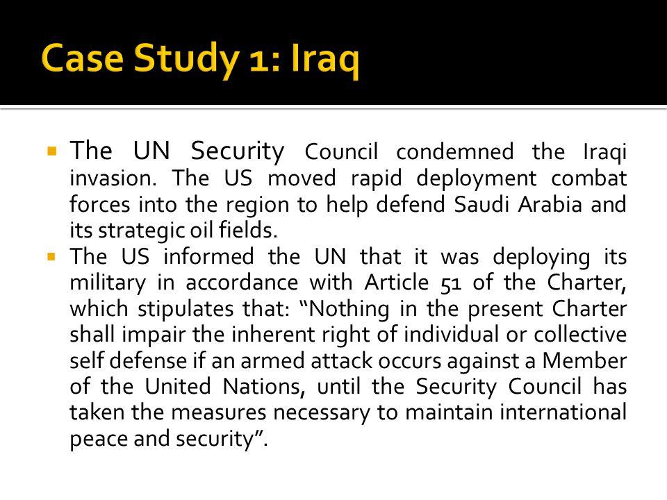 Case Study 1: Iraq