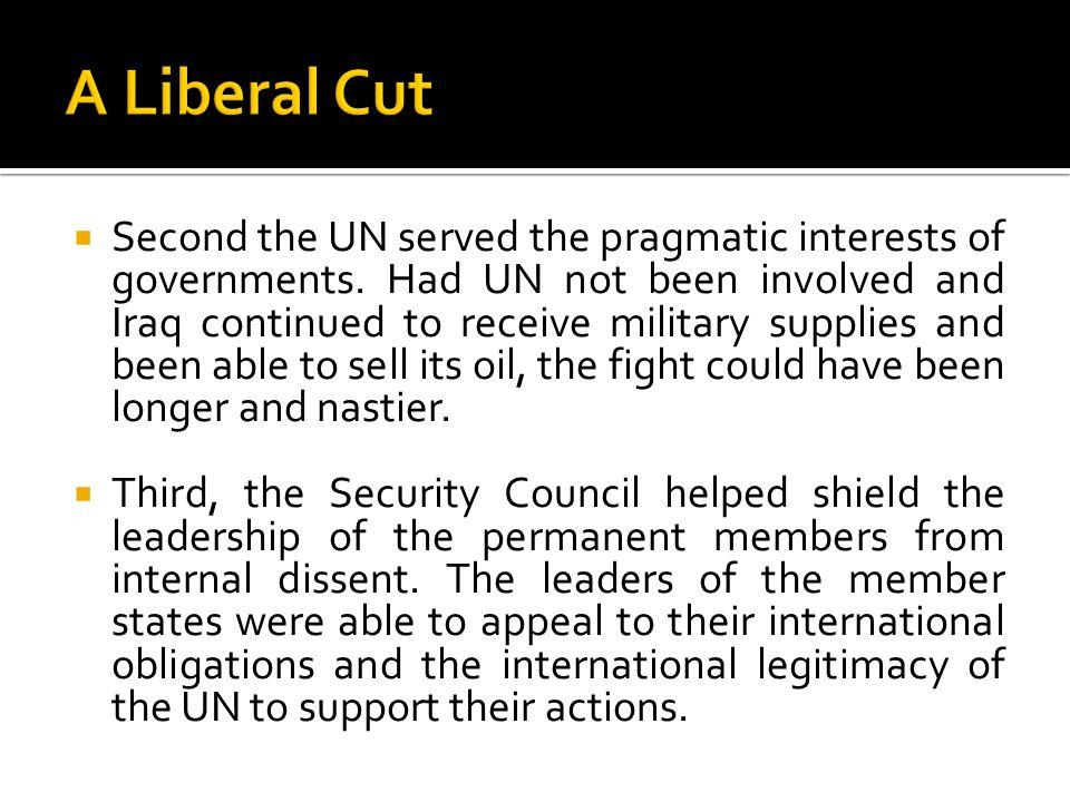 A Liberal Cut