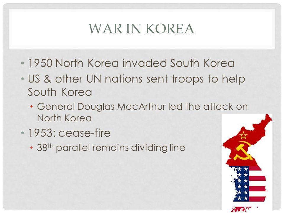 War in Korea 1950 North Korea invaded South Korea