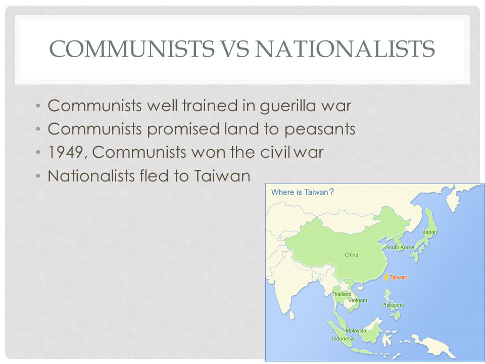 Communists vs Nationalists