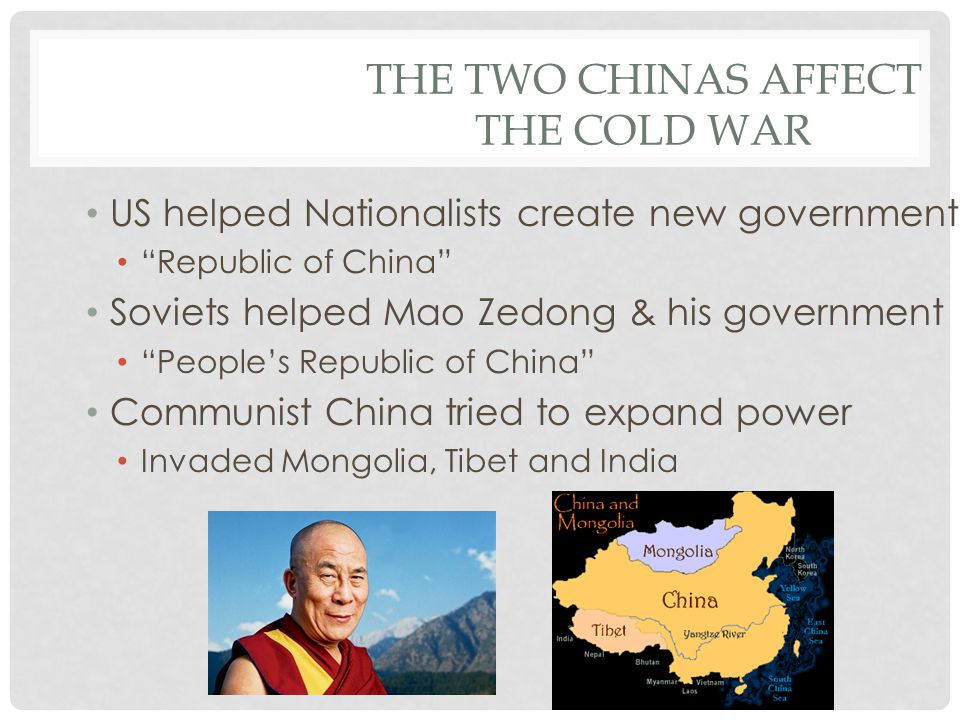 The Two Chinas Affect the Cold War