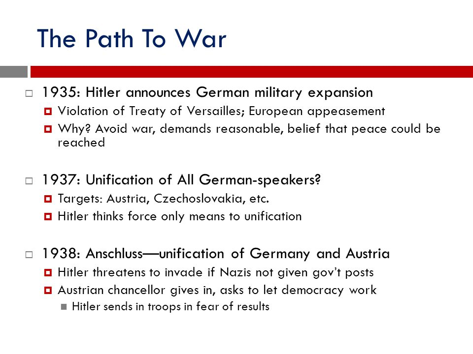 The Path To War 1935: Hitler announces German military expansion