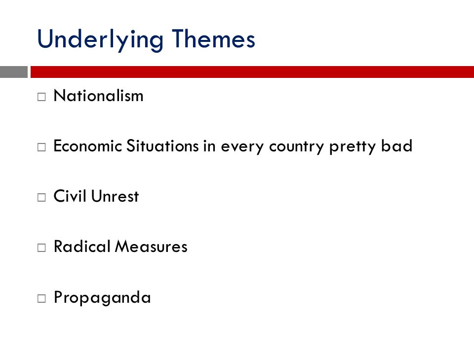 Underlying Themes Nationalism