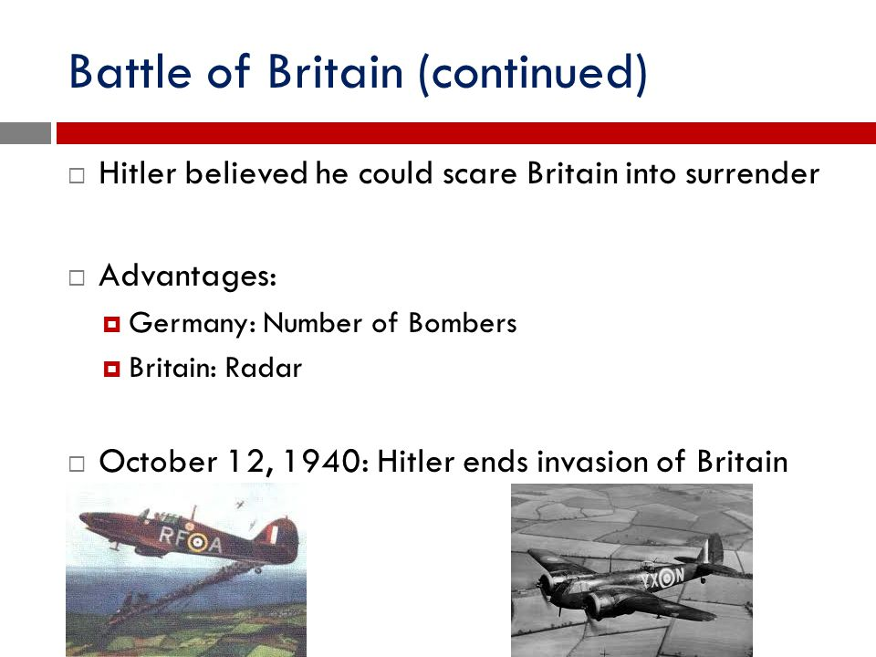 Battle of Britain (continued)