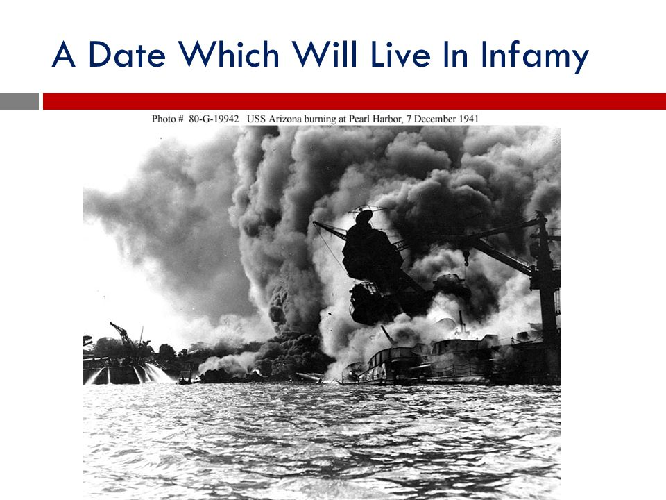 A Date Which Will Live In Infamy