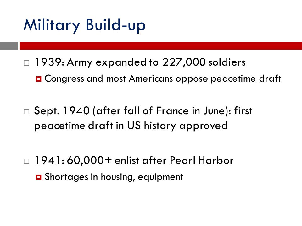 Military Build-up 1939: Army expanded to 227,000 soldiers