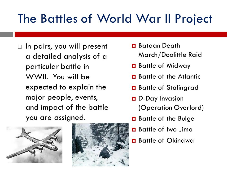 The Battles of World War II Project