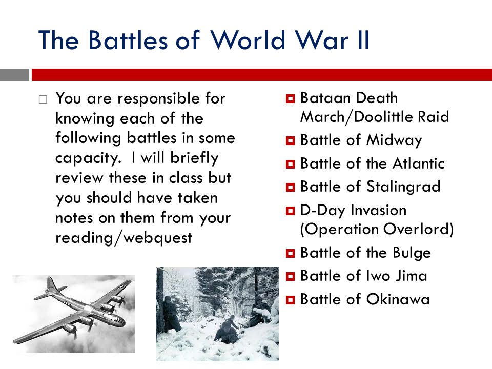 The Battles of World War II