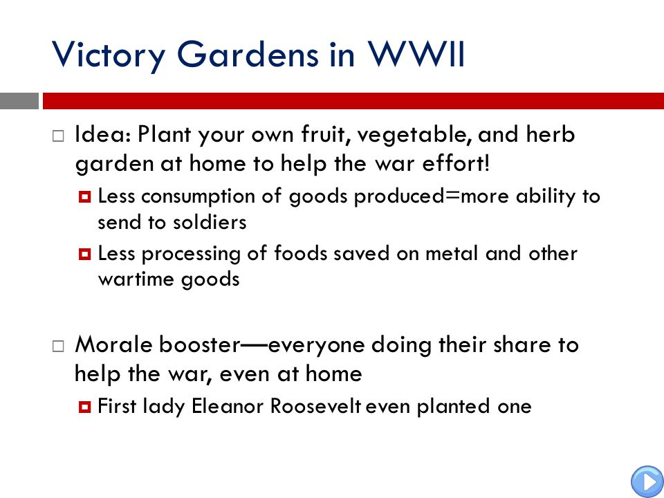 Victory Gardens in WWII