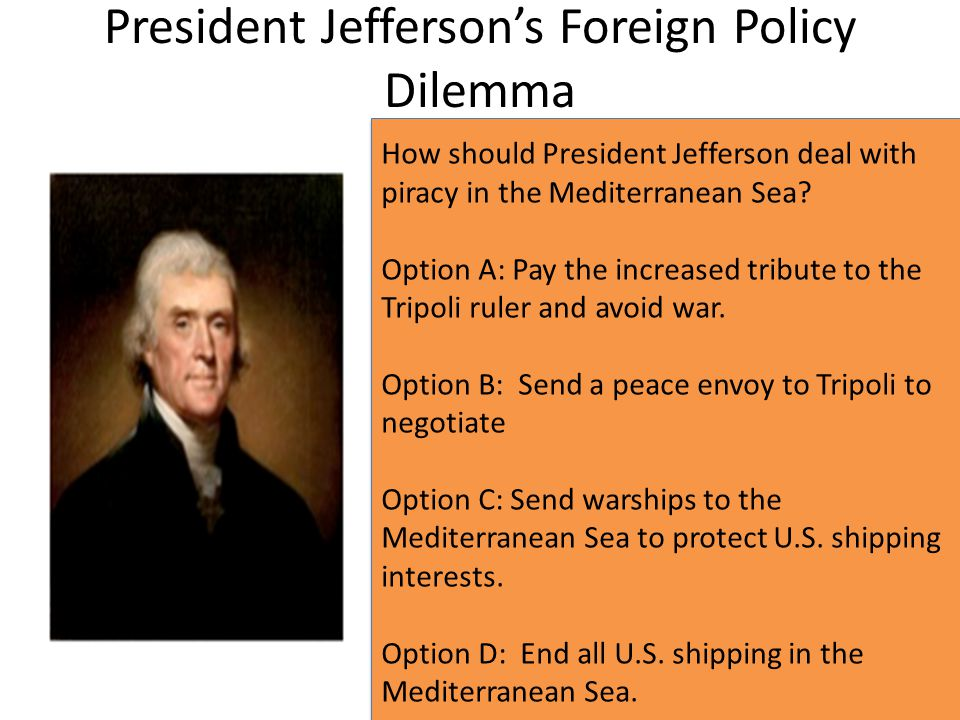 President Jefferson's Foreign Policy Dilemma
