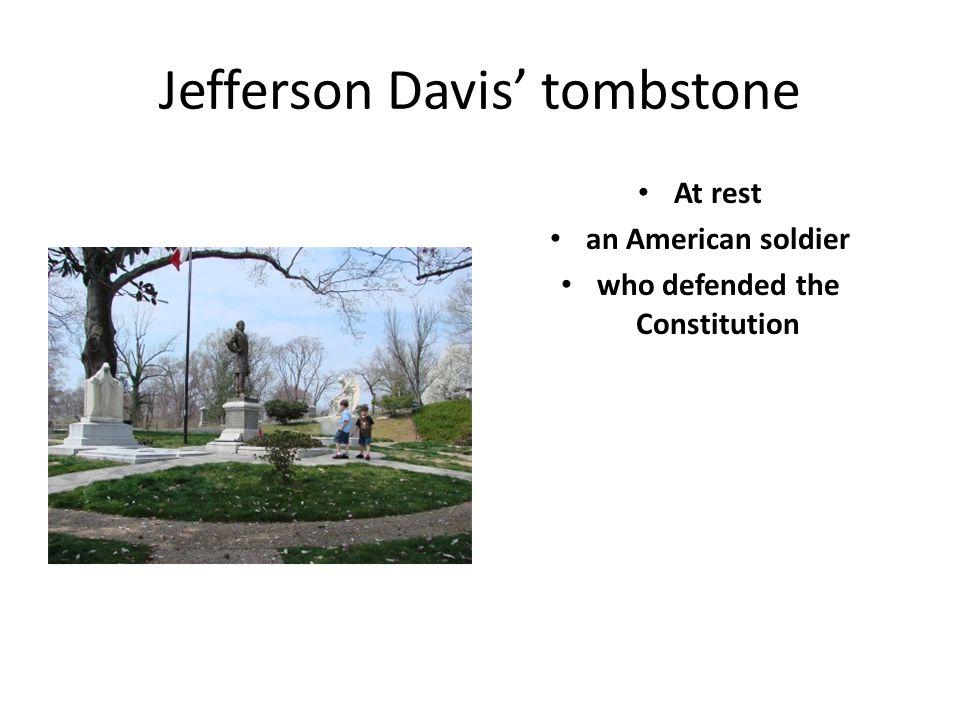 Jefferson Davis' tombstone