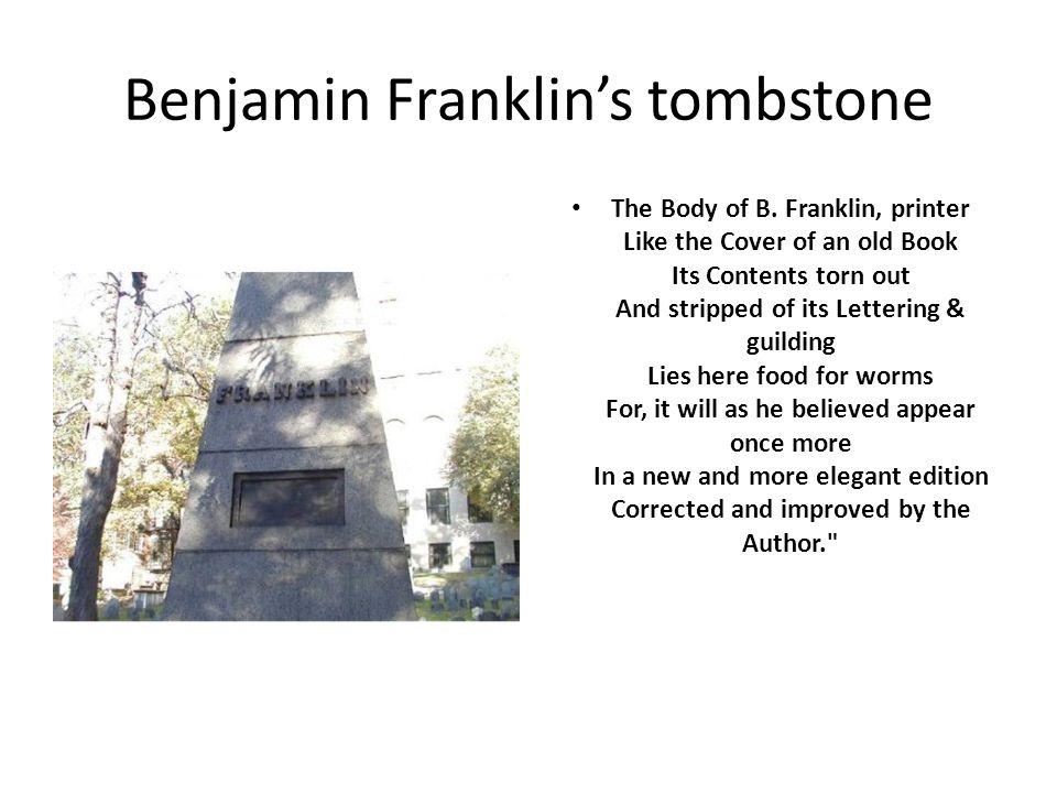 Benjamin Franklin's tombstone