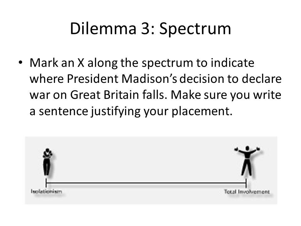 Dilemma 3: Spectrum