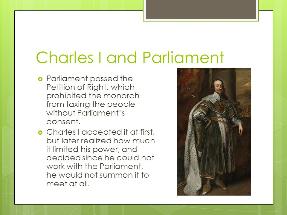 Charles I and Parliament