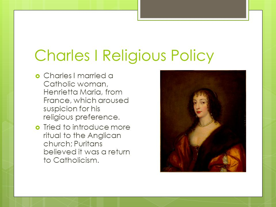 Charles I Religious Policy