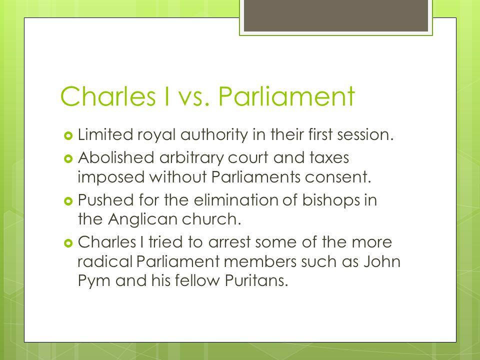Charles I vs. Parliament
