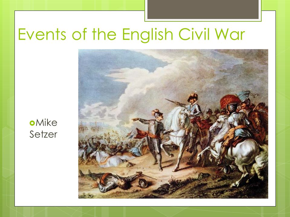 Events of the English Civil War