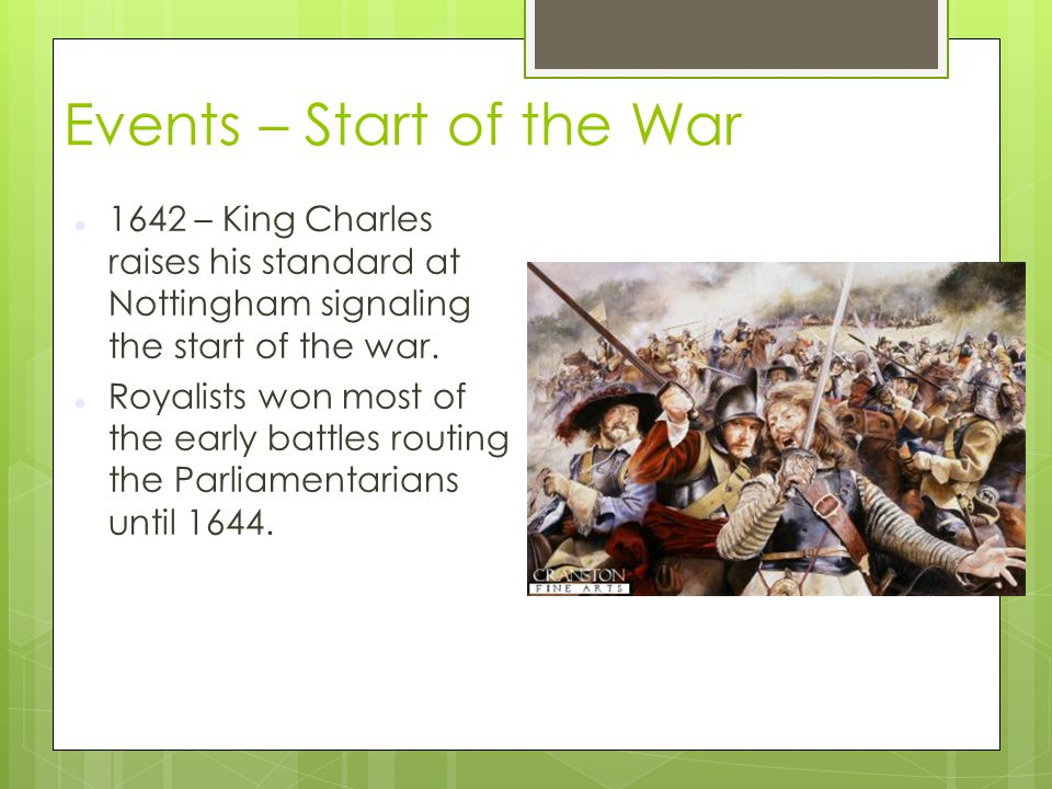 Events – Start of the War