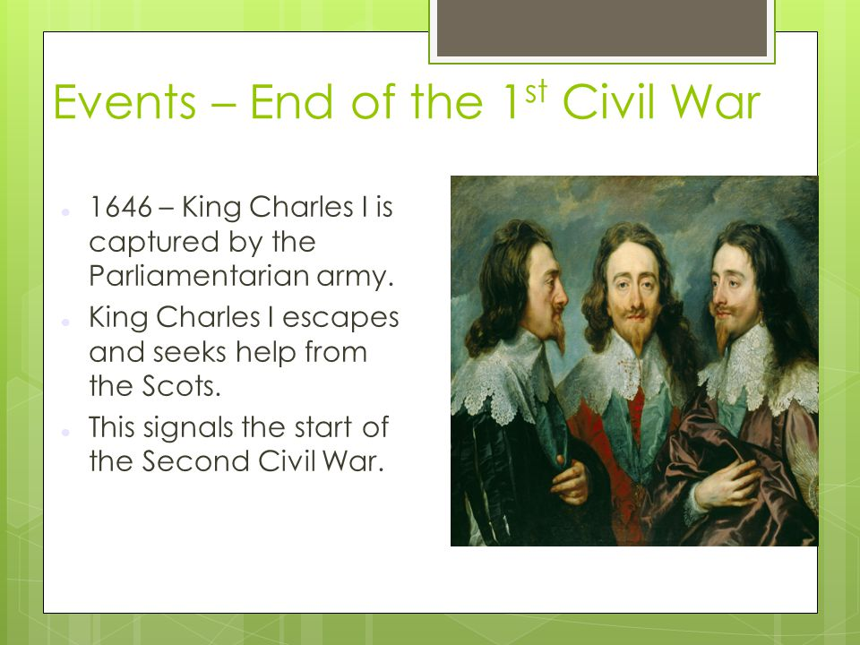 Events – End of the 1st Civil War