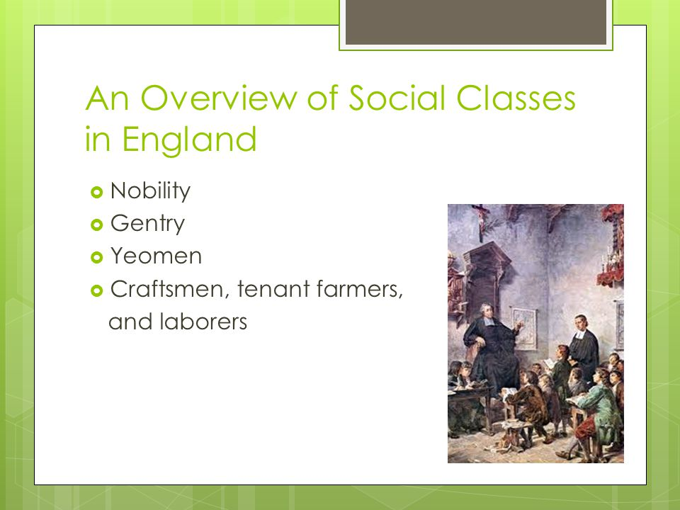 An Overview of Social Classes in England