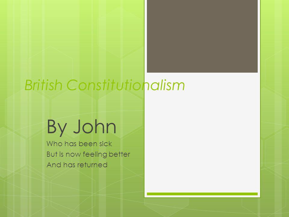 British Constitutionalism