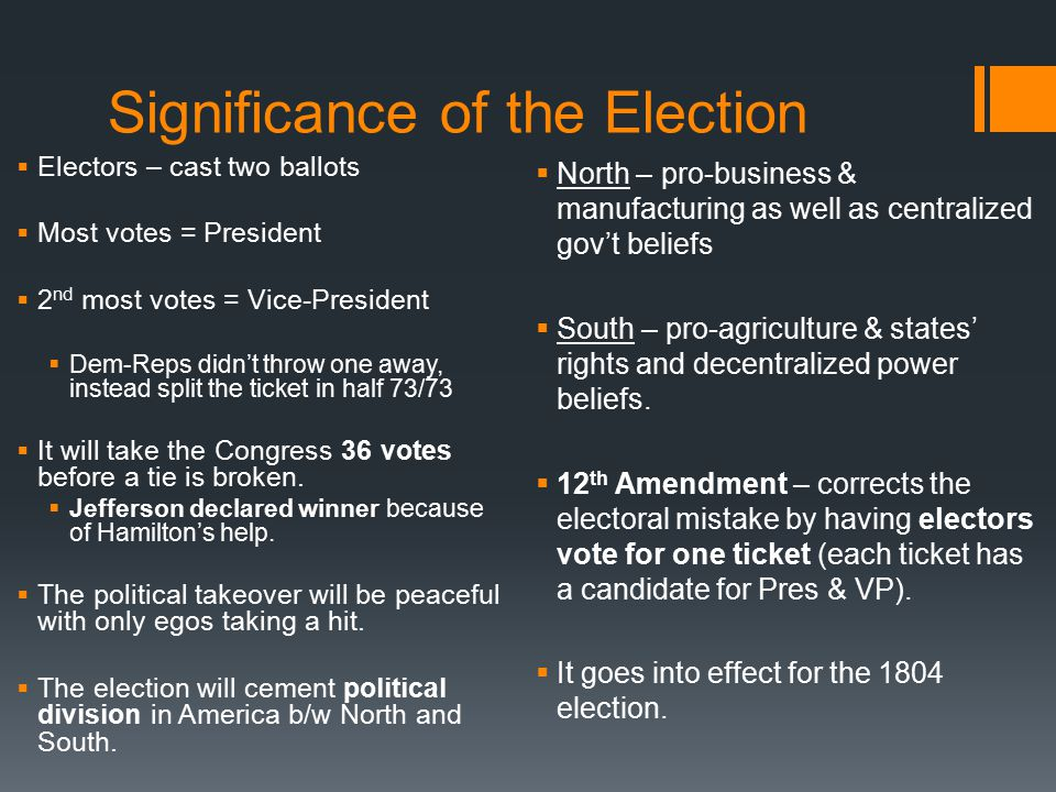 Significance of the Election