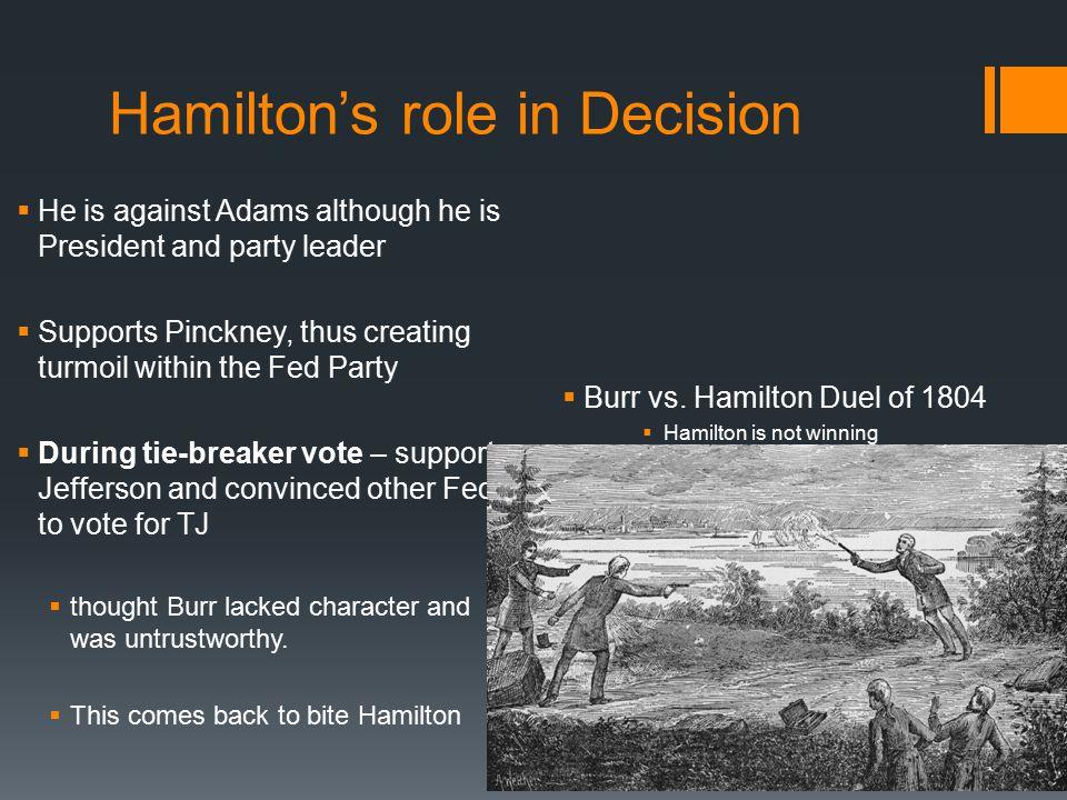 Hamilton's role in Decision