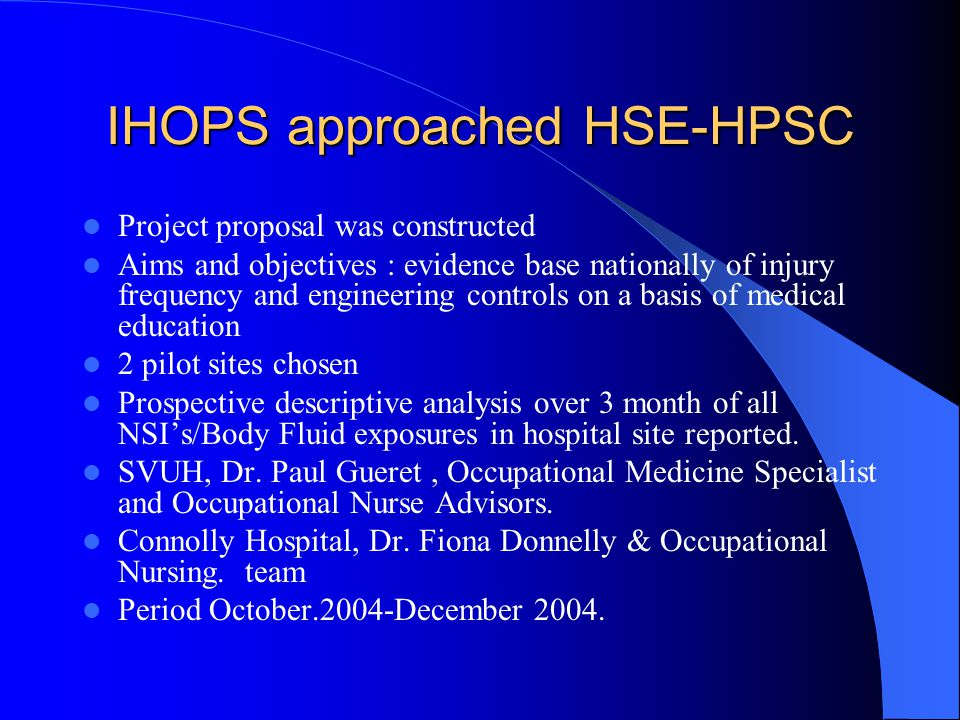 IHOPS approached HSE-HPSC