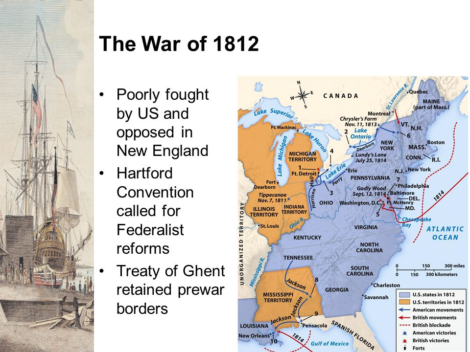 The War of 1812 Poorly fought by US and opposed in New England