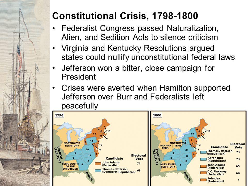 Constitutional Crisis, 1798-1800