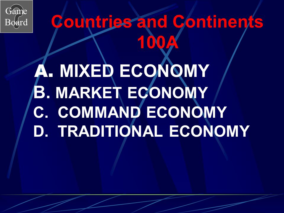 Countries and Continents 100A