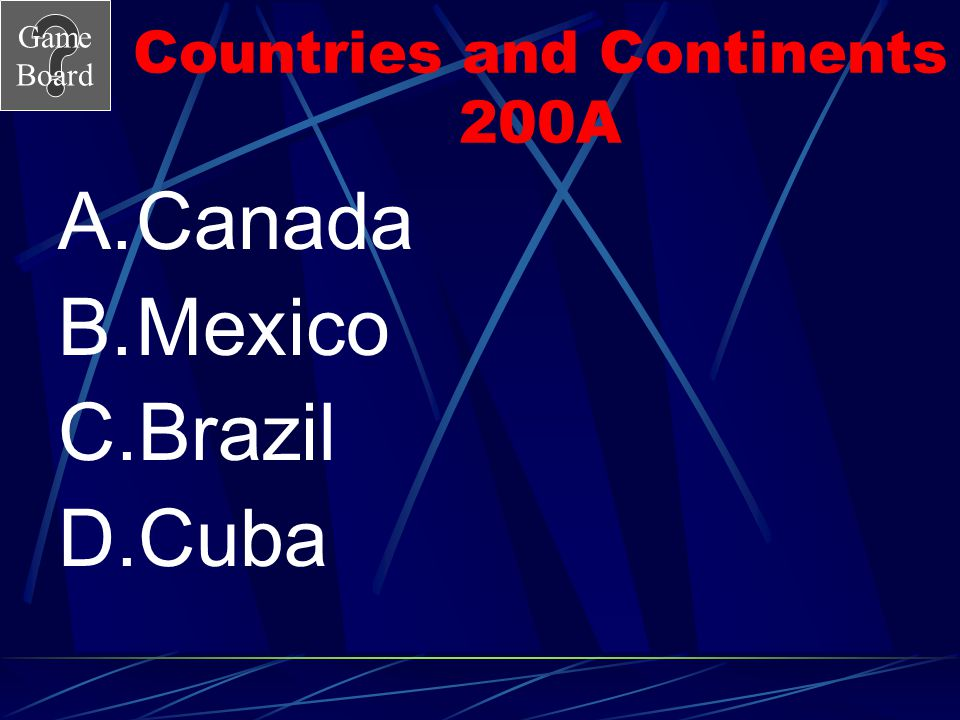 Countries and Continents 200A