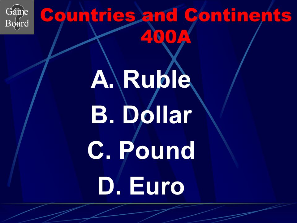 Countries and Continents 400A