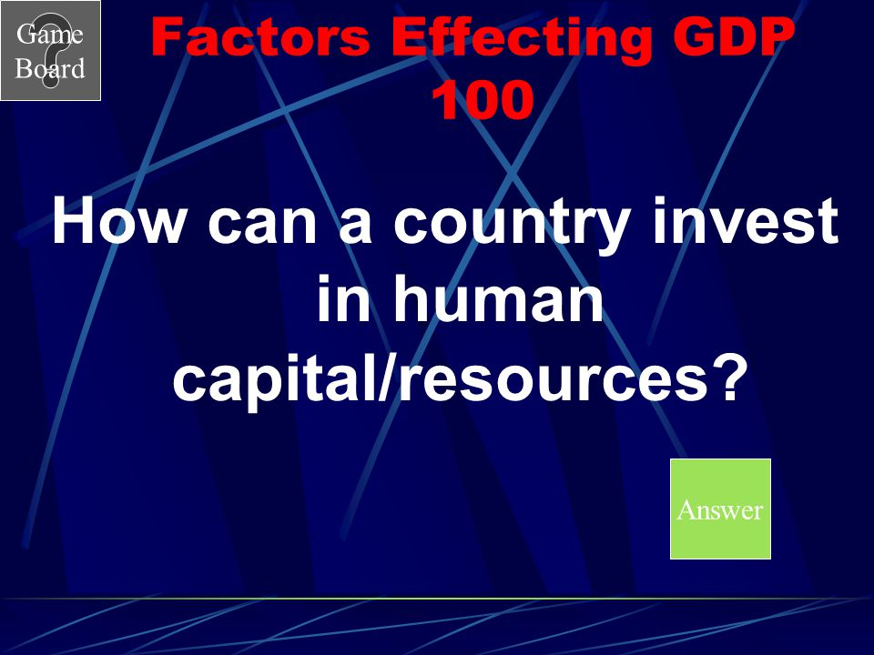 How can a country invest in human capital/resources